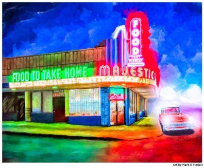 Majestic Diner - Atlanta Landmark Print by Mark Tisdale