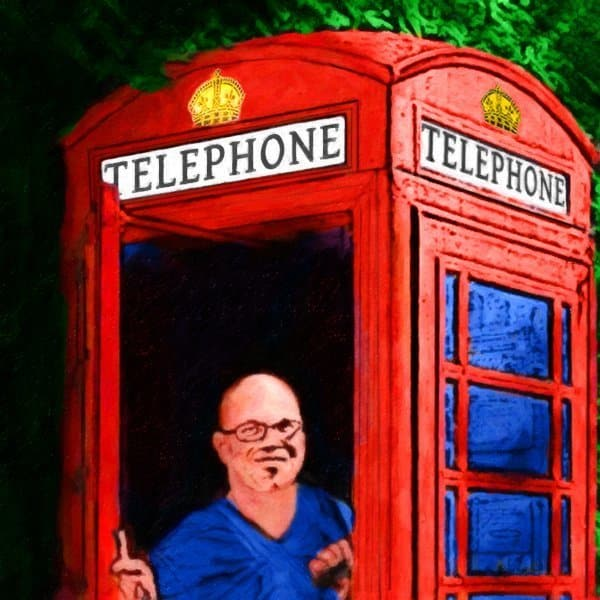Mark Tisdale in A British Phone Booth