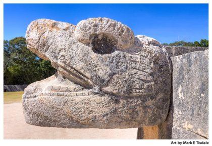 Mayan Serpent - Chichen Itza Art Print by Mark Tisdale