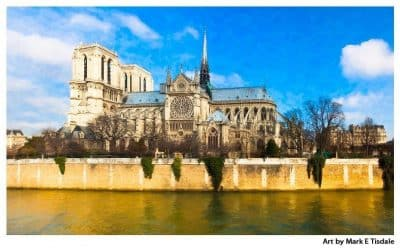 Notre Dame Cathedral Panorama Art Print