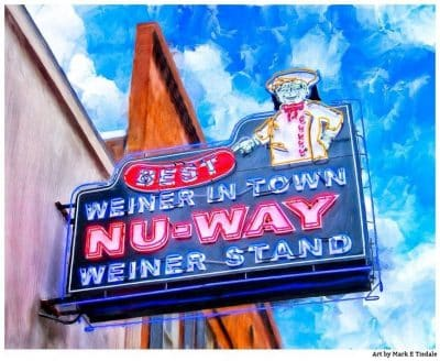 Nu-Way Weiners Sign - Macon Landmark Art Print