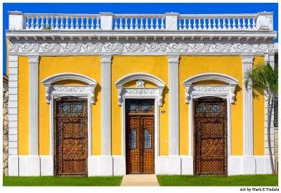 Art Print of old Ornate Wooden Doors in Mexico