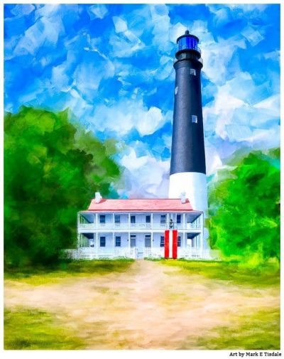 Pensacola Lighthouse Art - Florida Coast
