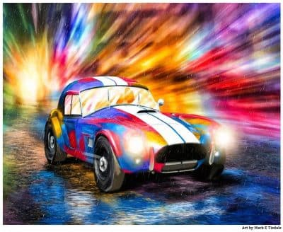 Shelby Cobra Race Car Art Print