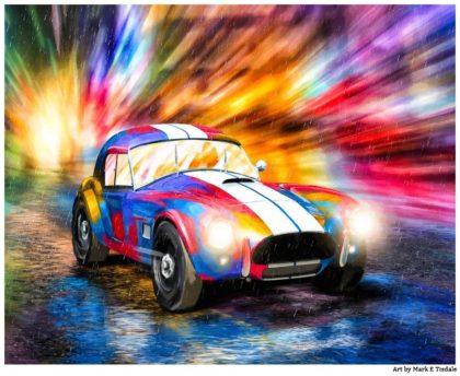 Shelby Cobra Race Car Art Print by artist Mark Tisdale