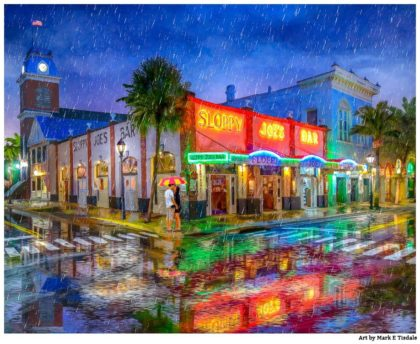 Sloppy Joe's Bar - Key West Artwork - Print by Mark Tisdale