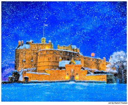 Edinburgh Castle In The Snow - Edinburgh Scotland Print by Mark Tisdale