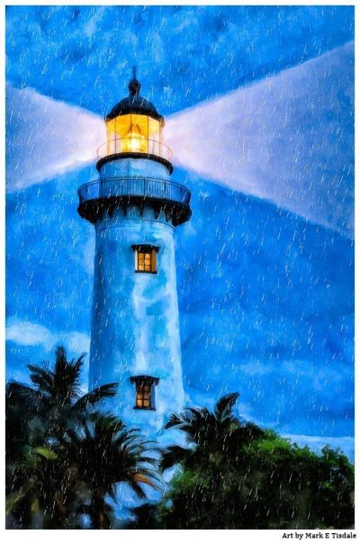 St. Simons Island Artwork - Lighthouse Print