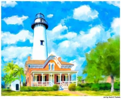 St Simons Lighthouse Art Print - Coastal Georgia