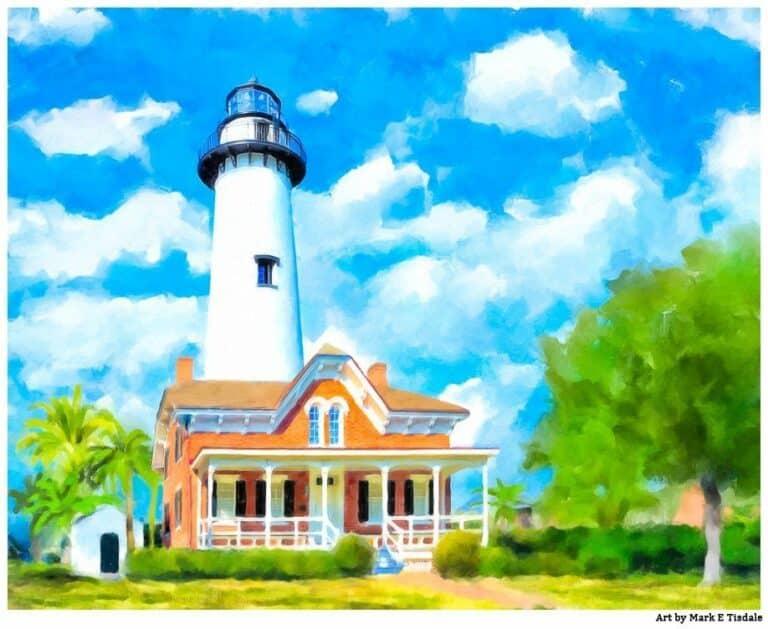 St Simons Lighthouse Art Print