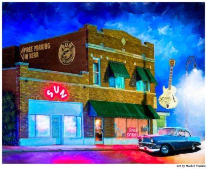 Sun Studio Artwork - Night in Memphis - Print by Mark Tisdale