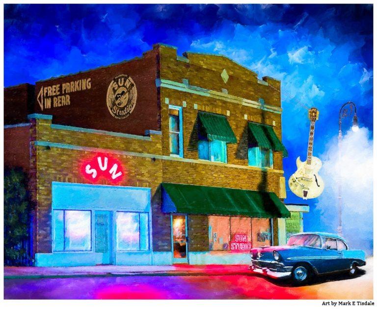 Sun Studio Artwork – Ghosts of Memphis Print