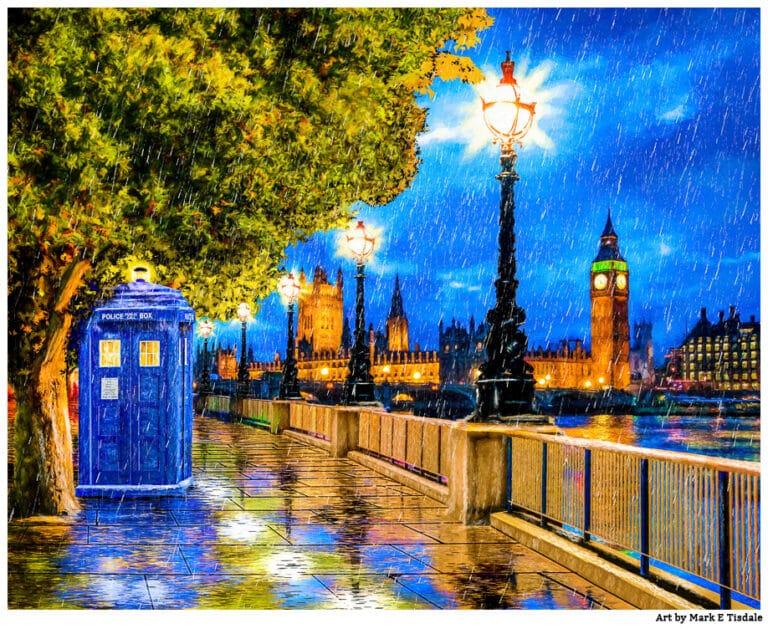 Tardis Print – Doctor Who Art