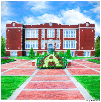 Andalusia City Hall - Formerly East Three Notch Elementary School - Print by Mark Tisdale