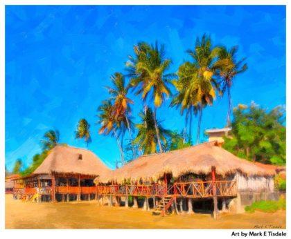 Tropical Paradise - San Juan Del Sur Nicaragua - Art Print by Mark Tisdale