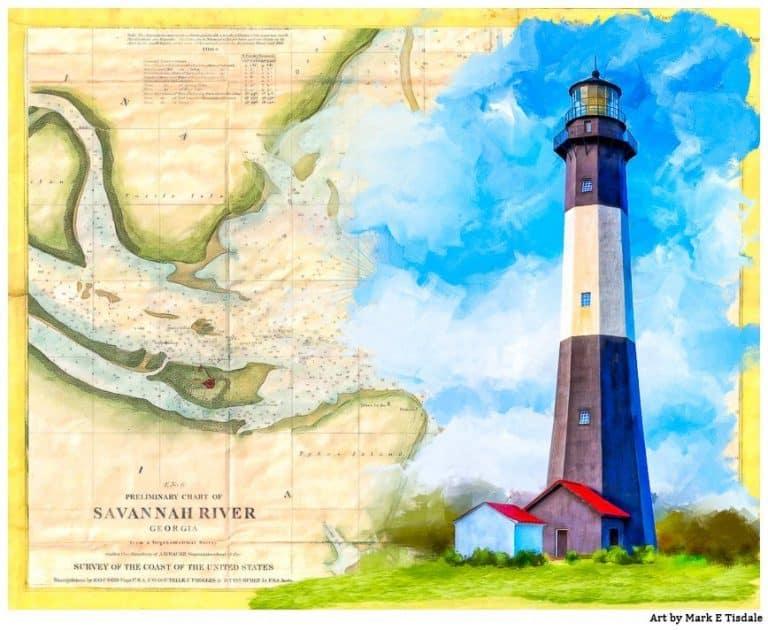 Tybee Island Lighthouse Art