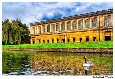 Art Print of the Wren Library at Trinity College as seen from the River Cam in Cambridge England