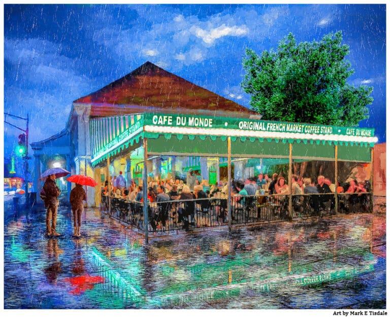 Cafe du Monde Print – New Orleans in the Rain
