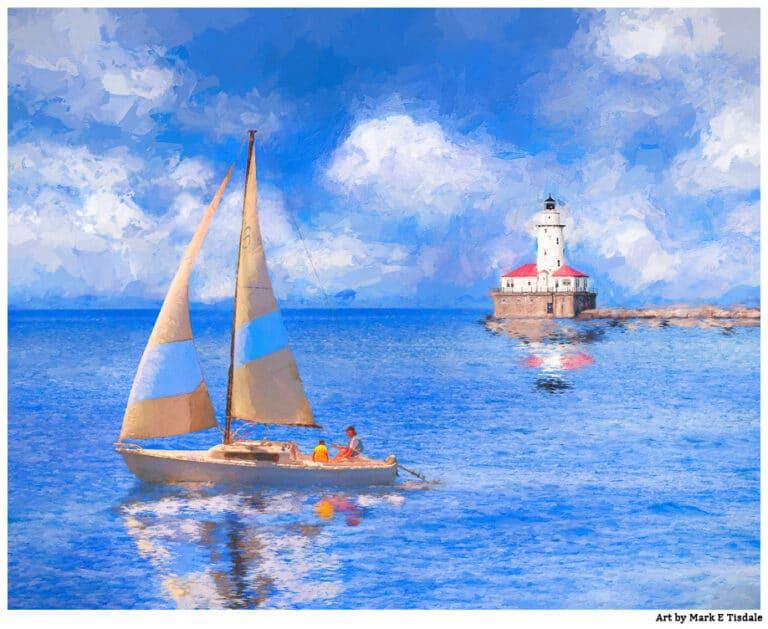 Chicago Harbor Lighthouse Art