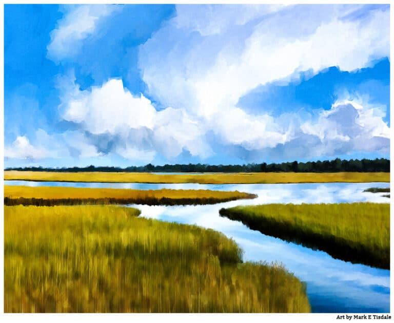 Cape Cod Salt Marsh Landscape Art